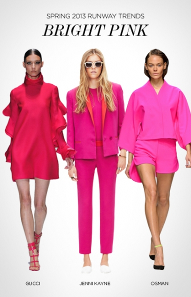 Spring 2013 runway trends: bright pink