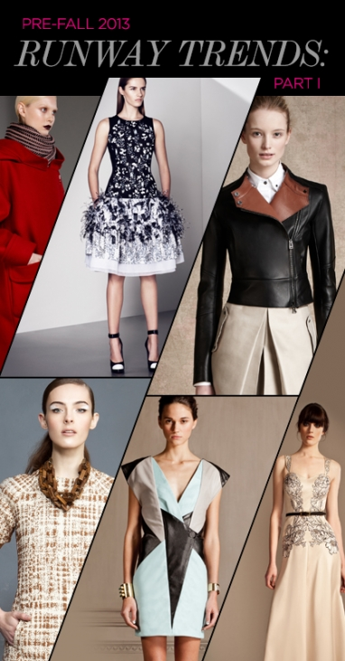 Pre-Fall 2013 Runway Trends: Part I