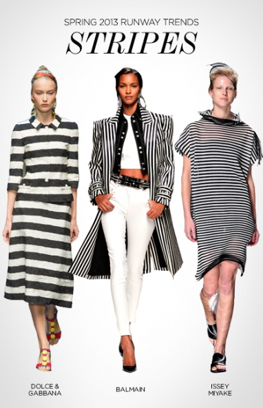 Spring 2013 runway trends: stripes