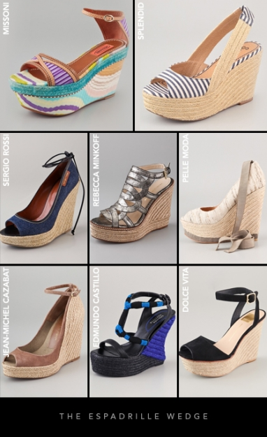 Spring 2012 Footwear Trends: The Espadrille Wedge