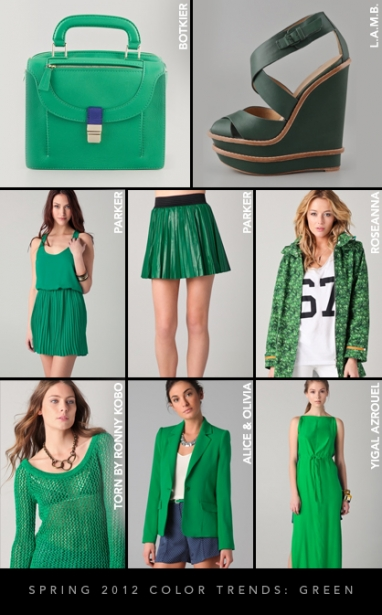 Spring 2012 Color Trends: Green