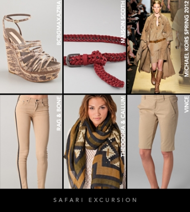 Spring 2012 Trends: Safari excursion