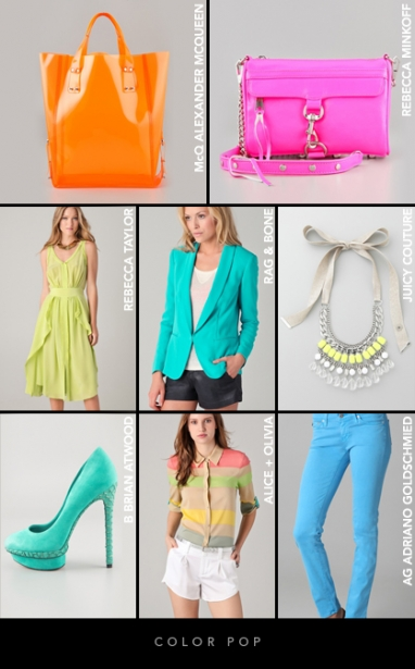 Spring 2012 Color Trends: Color pop