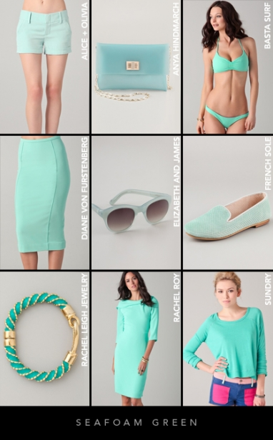 Spring 2012 Color Trends: Seafoam Green