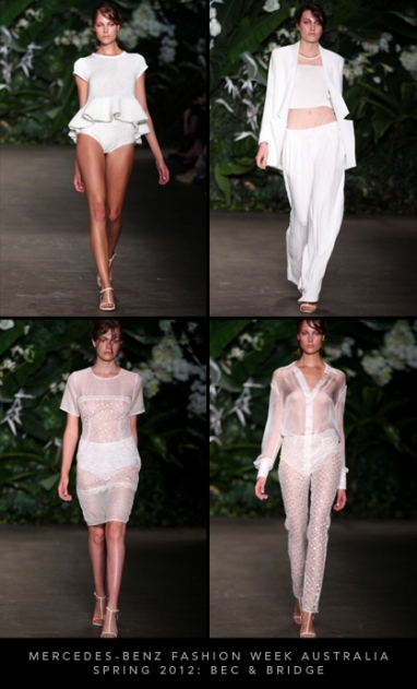Mercedes-Benz Fashion Week Australia Spring 2012: Bec & Bridge