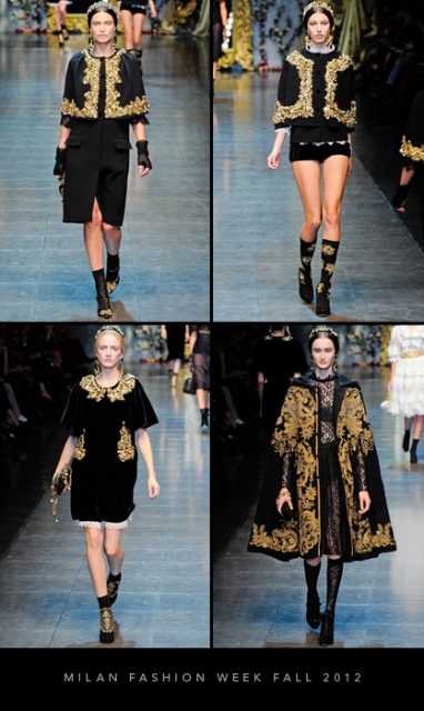 Milan Fashion Week Fall 2012: Dolce & Gabbana