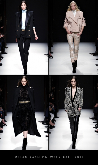 Paris Fashion Week Fall 2012: Balmain
