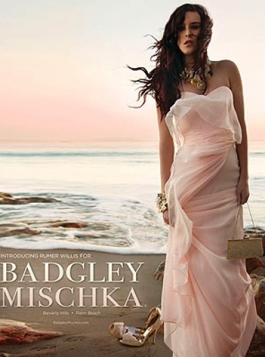 Rumer Willis: The new face of Badgley Mischka