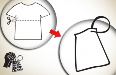 Turn Your FAV Shirt into a Grocery Bag