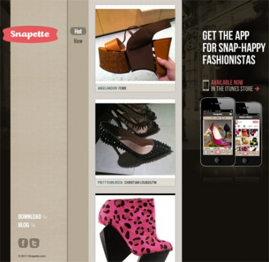 Let your fingers do the walking: New fashion app Snapette