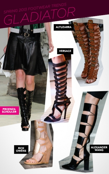 Spring 2013 must-have footwear trends