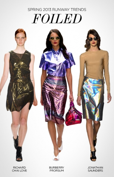 Spring 2013 runway trends: foiled
