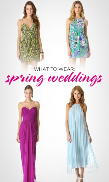 What to Wear: Spring Weddings