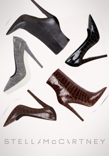 Stella McCartney's Winter 2012 footwear features biodegradable soles