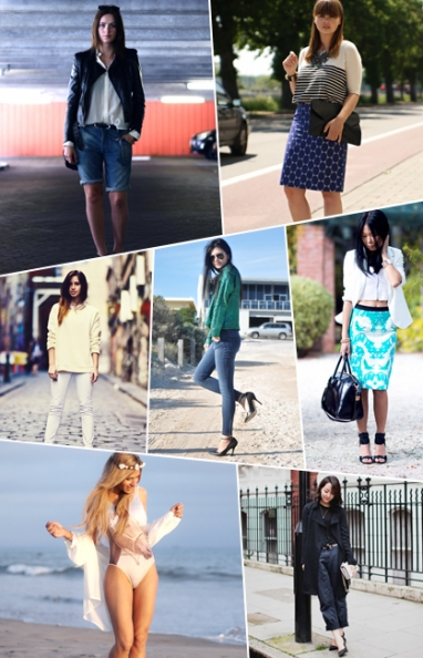 Street Scene: Pencil skirts, skinny jeans and swimwear