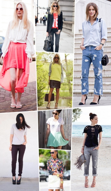Street Scene: Spring denim and skirts