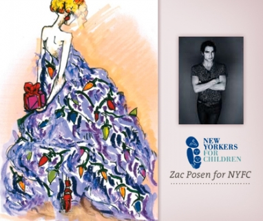 Zac Posen designs holiday card for nonprofit
