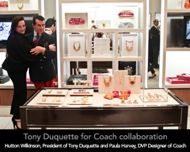 "Tony Duquette and Coach celebrate the launch of their collaboration ""The Jewels of Tony Duquette&#82"