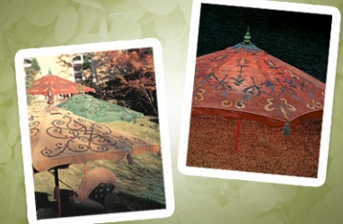 LUX-ify Your Yard with Hand-Painted Garden Umbrellas