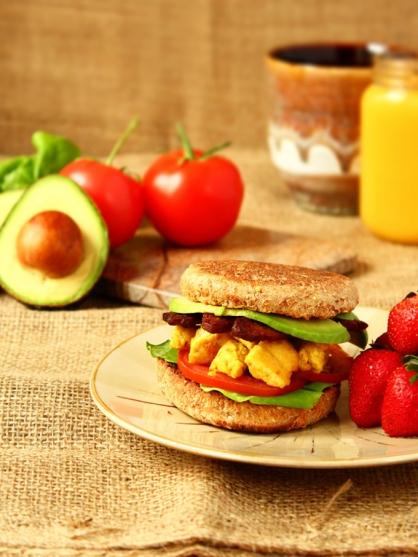 breakfast sandwich this is a basic recipe for making a vegan breakfast ...