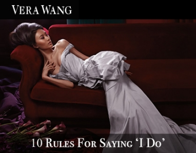Vera Wang's Top 10 'to do's for brides