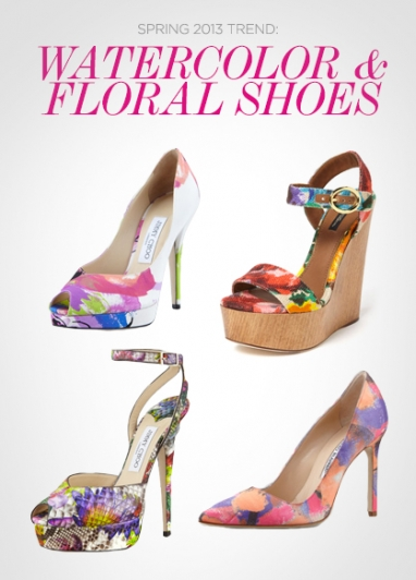 Spring 2013 Trends: Watercolor & Floral Shoes