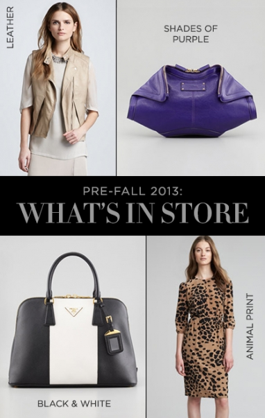 Pre-Fall 2013: What's In-Store NOW