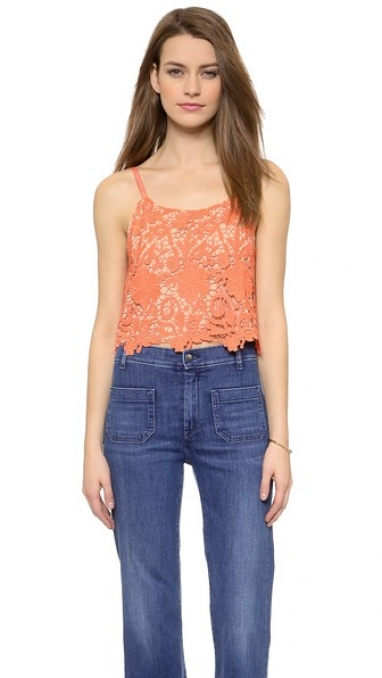 Lace Crop Top by Alice + Olivia