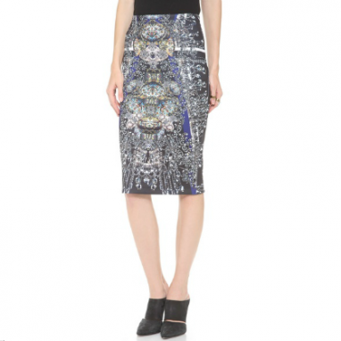 Creative Enameled Pencil Skirt