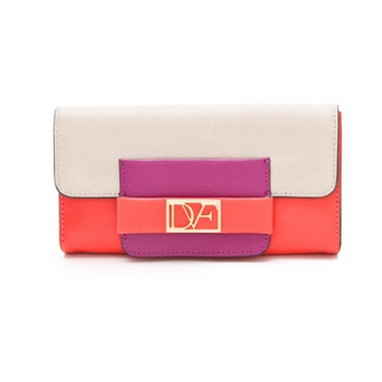 Colorblock Leather Wallet