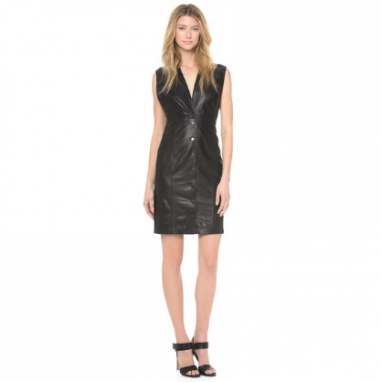 Slim Leather Dress
