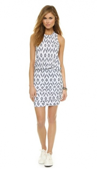 Ikat Print Sleeveless Dress