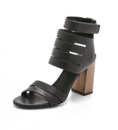 Black Buttery Leather Sandals