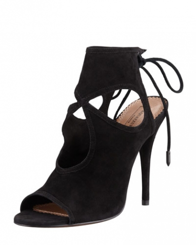 Sexy Thing Cutout Suede Sandal - Aquazzura