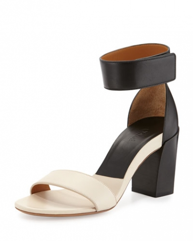 Chloe Two-Tone Block-Heel Sandal