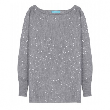 Boatneck Sequin Sweater