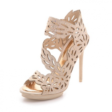 Crystal Cutout Sandals
