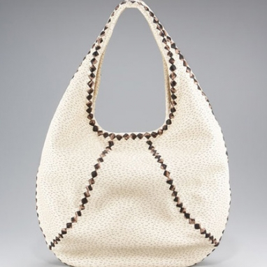 Woven-Trim Perforated Hobo