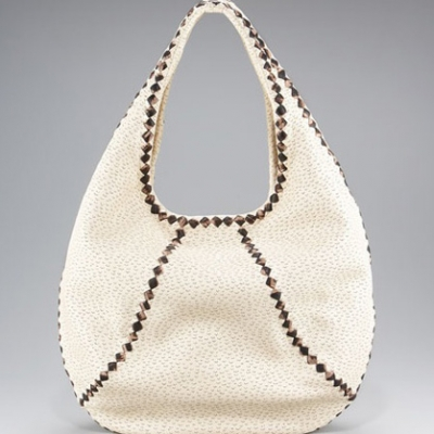 Woven-Trim Perforated Hobo | LadyLUX - Online Luxury Lifestyle, Technology and Fashion Magazine