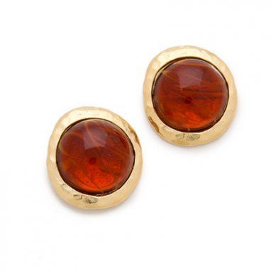 Topaz Cabochon Earrings