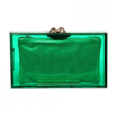 Emerald Box Clutch