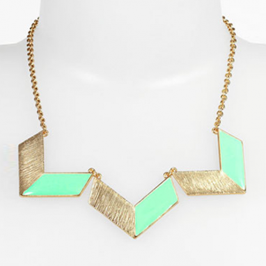 Chevron Statement Necklace