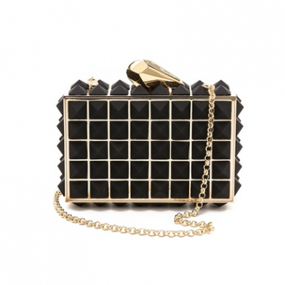 Studded Metal Clutch | LadyLUX - Online Luxury Lifestyle, Technology and Fashion Magazine