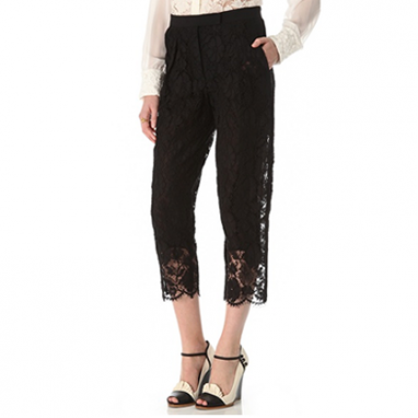 Cropped Lace Pants