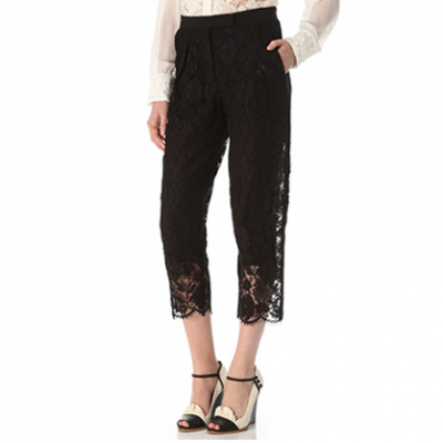 Cropped Lace Pants | LadyLUX - Online Luxury Lifestyle, Technology and Fashion Magazine