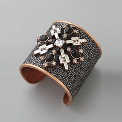 Jeweled Leather Cuff | LadyLUX - Online Luxury Lifestyle, Technology and Fashion Magazine