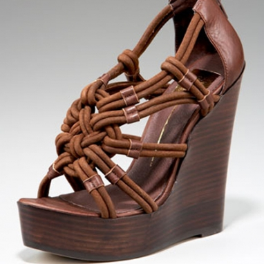 Niko Knotted Wedge Sandal