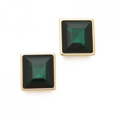 Emerald Square Studs | LadyLUX - Online Luxury Lifestyle, Technology and Fashion Magazine