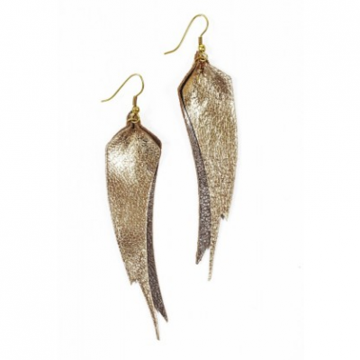 Feather Leaf Earrings | LadyLUX - Online Luxury Lifestyle, Technology and Fashion Magazine
