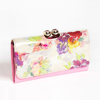 Orchid Floral Wallet